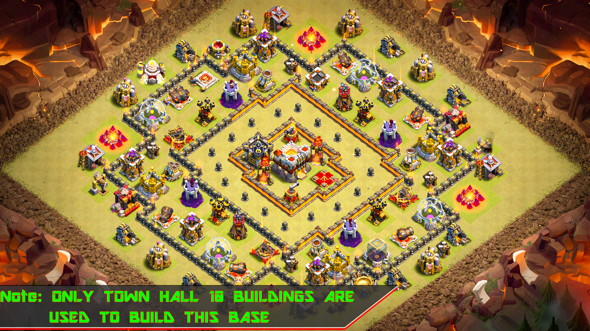 BEST TH10 War Base 2018 With Multi Mortar - Base of Clans