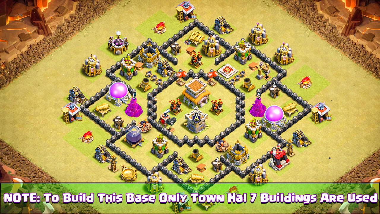 BEST Town Hall 7 War Base 2018.