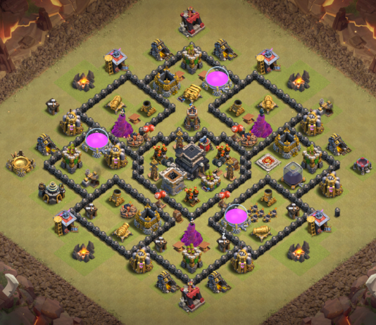 NEW! Clash of Clans Town Hall 8 (TH8) War Base 2018
