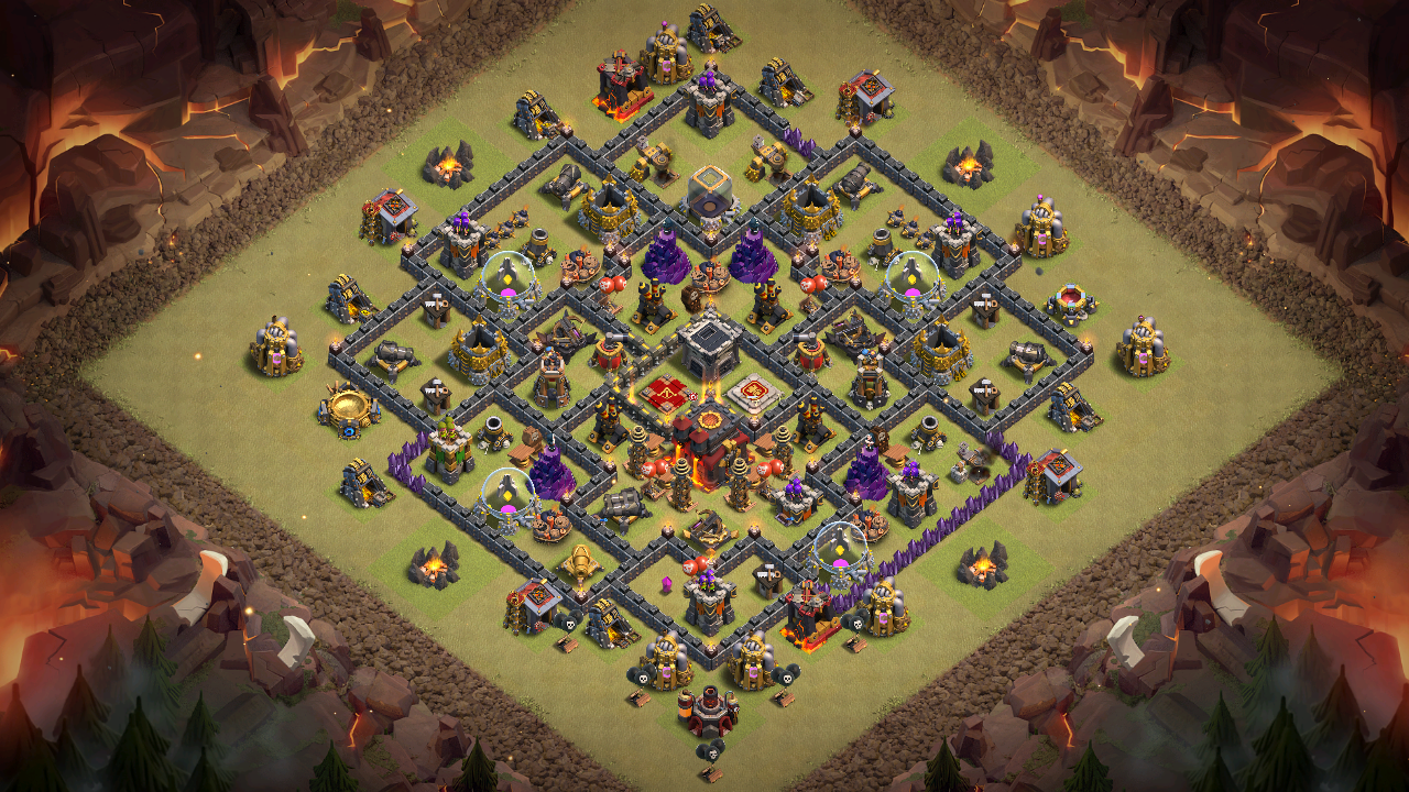 NEW TH9.5 War Base 2018 Anti Queen Walk