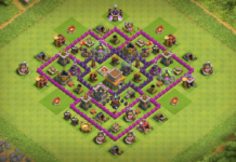 NEW Town Hall 7 (TH7) TROPHY Base Design 2018