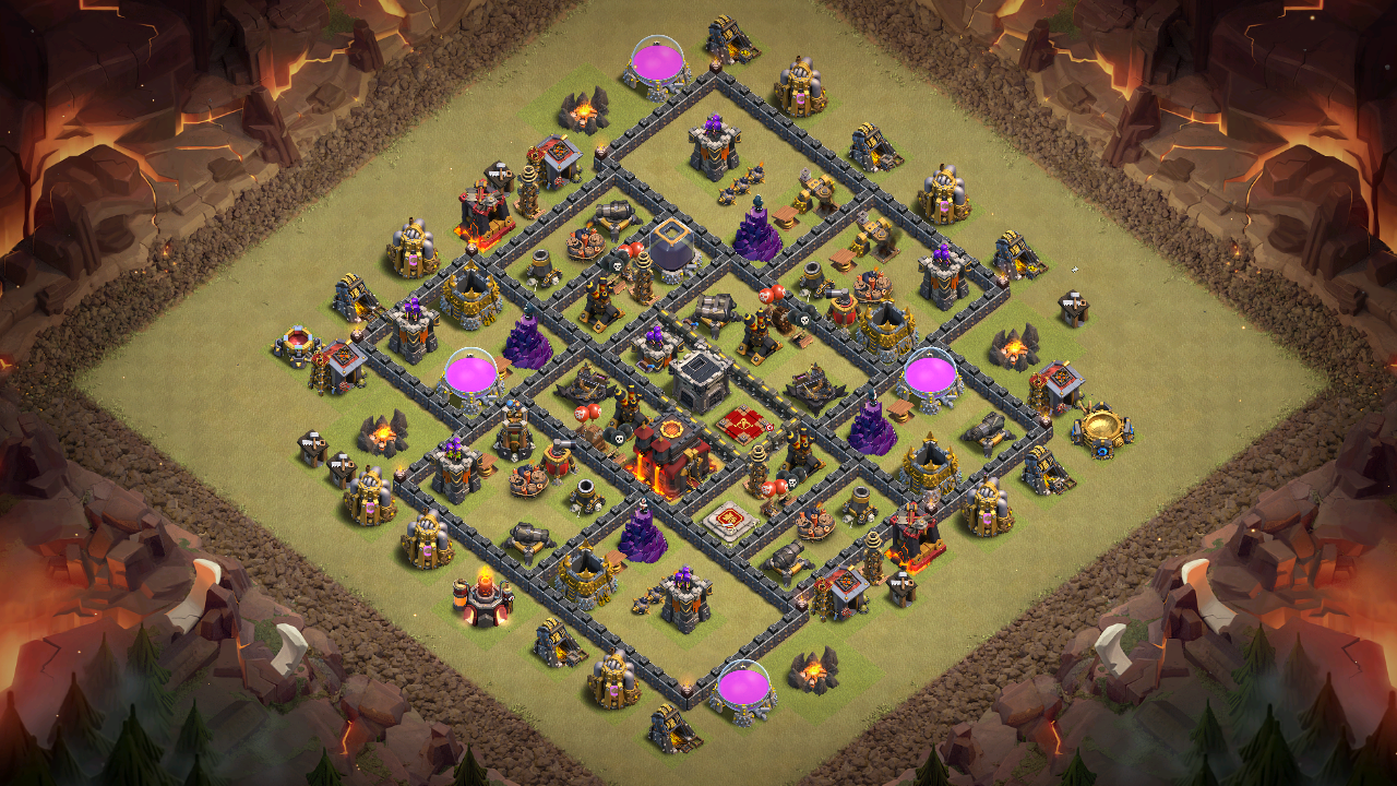 New 2018 Th9 War Base Anti 3 Stars