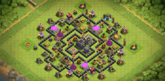New Anti 3 & 2 Stars TH8 Trophy Base 2018