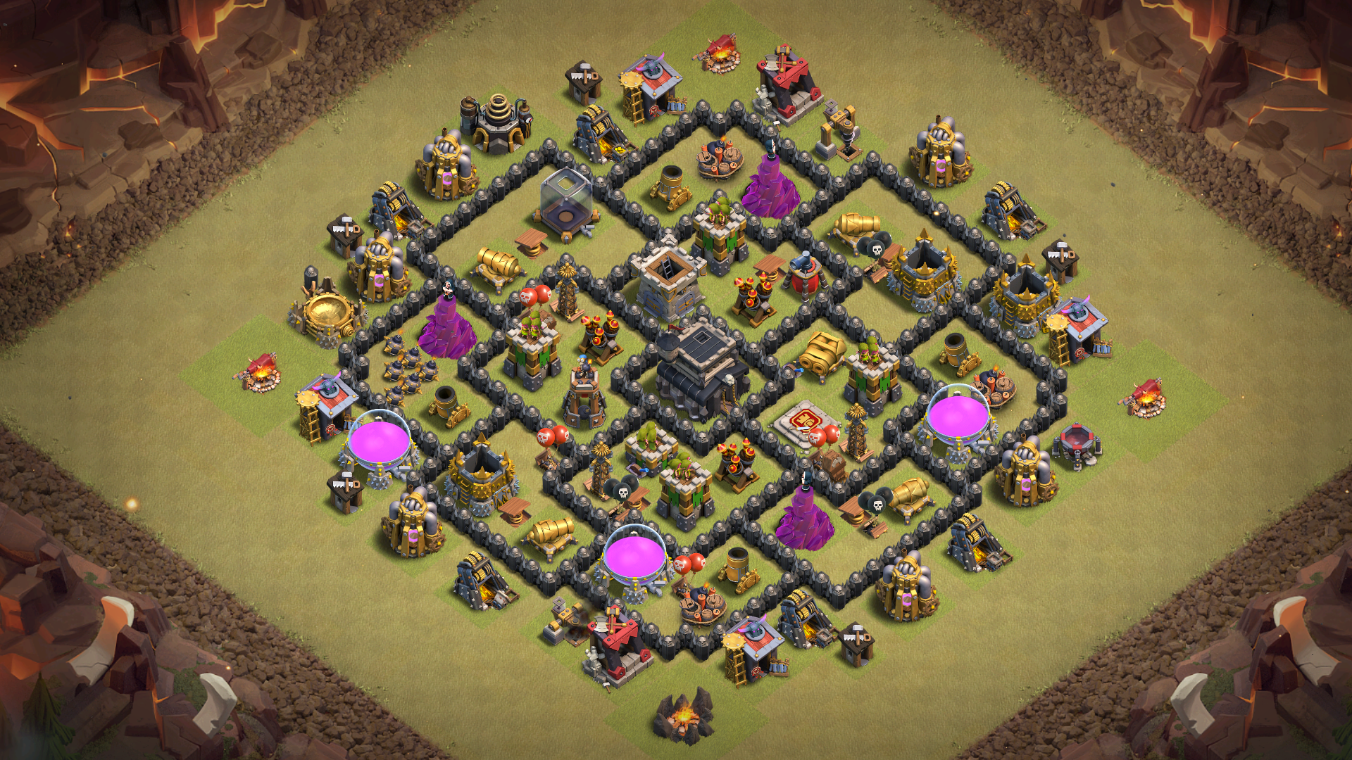 Clash of Clans Town Hall 8 (TH8) War Base 2018