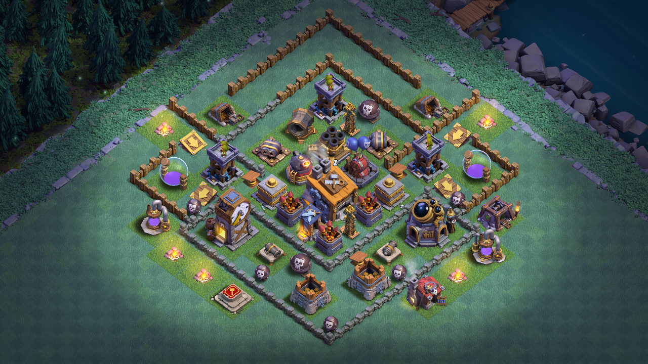 Best BH 7 (Builder Hall 7) Base 2018 Design Anti 1 Star
