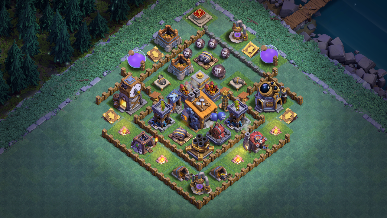 NEW Builder Hall 5 (BH5) Anti 1 Star Base 2018
