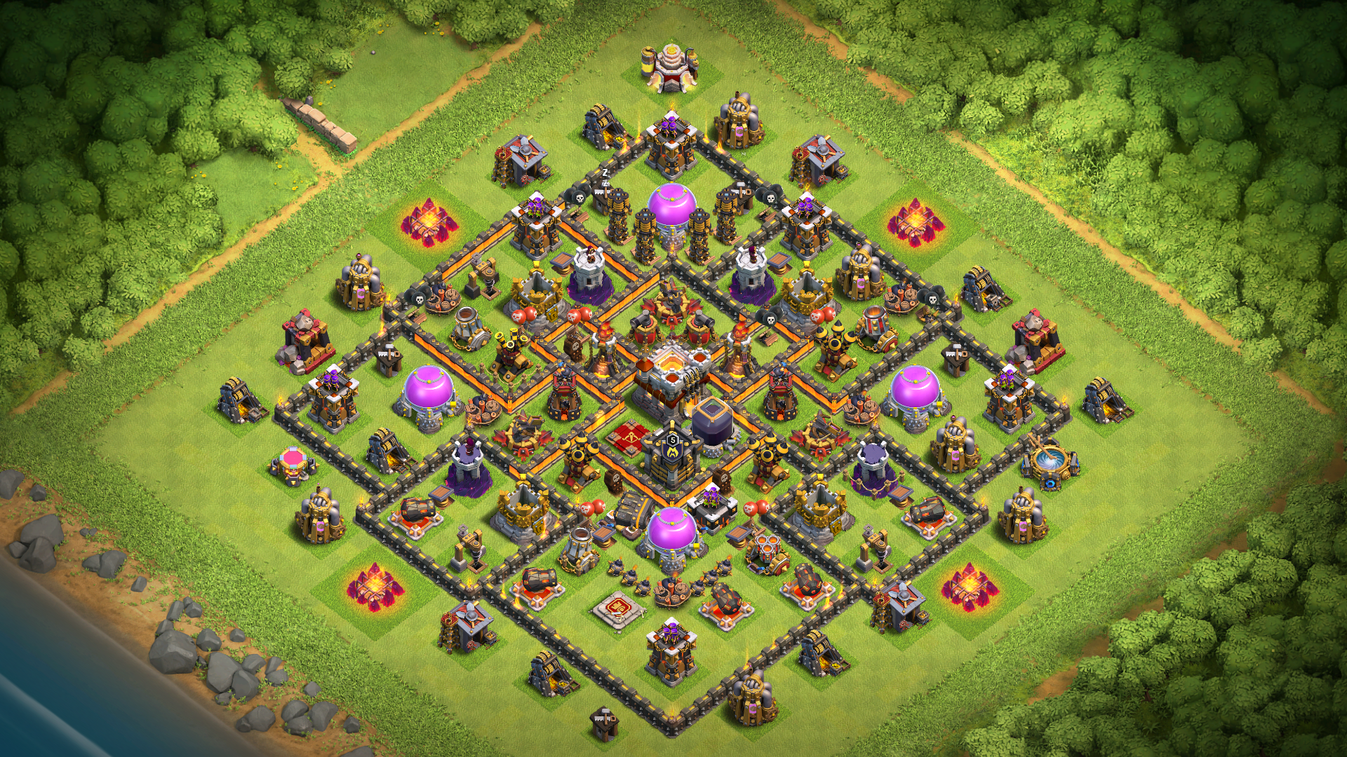 NEW TH10 Farming Base 2018 | BEST TH 10 Base with Geared Ups