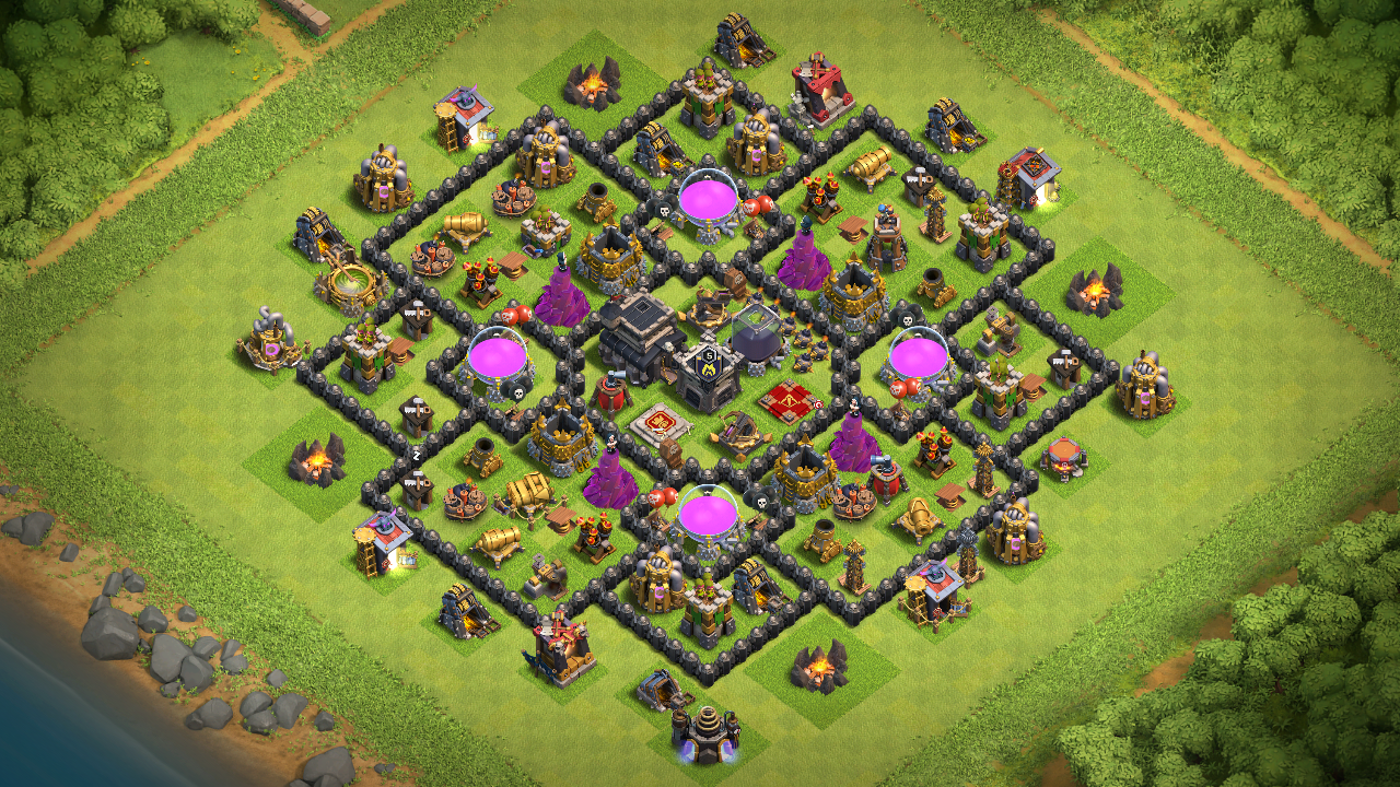 NEW TOWN HALL 9 FARMING BASE 2018