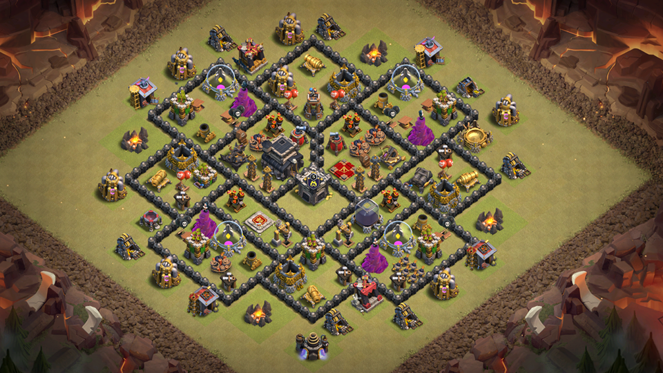 NEW TOWN HALL 9 (TH9) WAR BASE 2018 with REPLAY