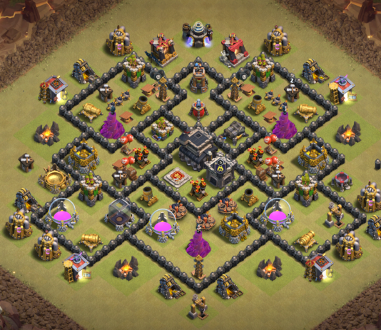 NEW! Town Hall 8 (TH8) War Base 2018