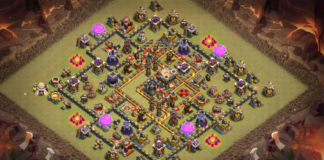 NEW Town Hall (TH10) War Base 2018 Anti Queen Walk
