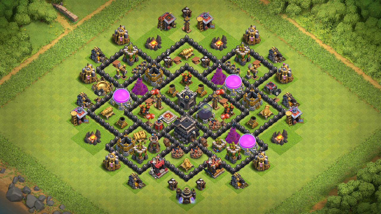 New Town Hall 8 (TH8) Farmin-Trophy Base 2018