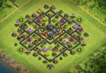 New Town Hall 9 Trophy/Farming Base 2018!