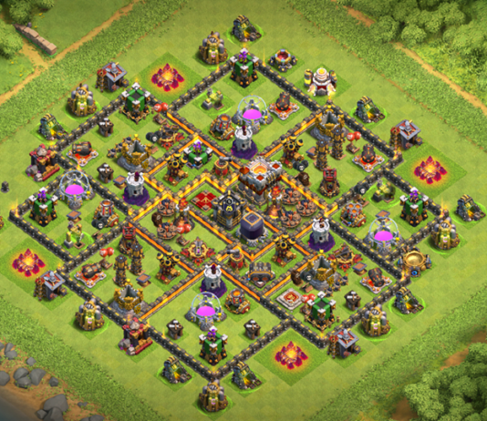 Town Hall 10 Trophy-Farming Base