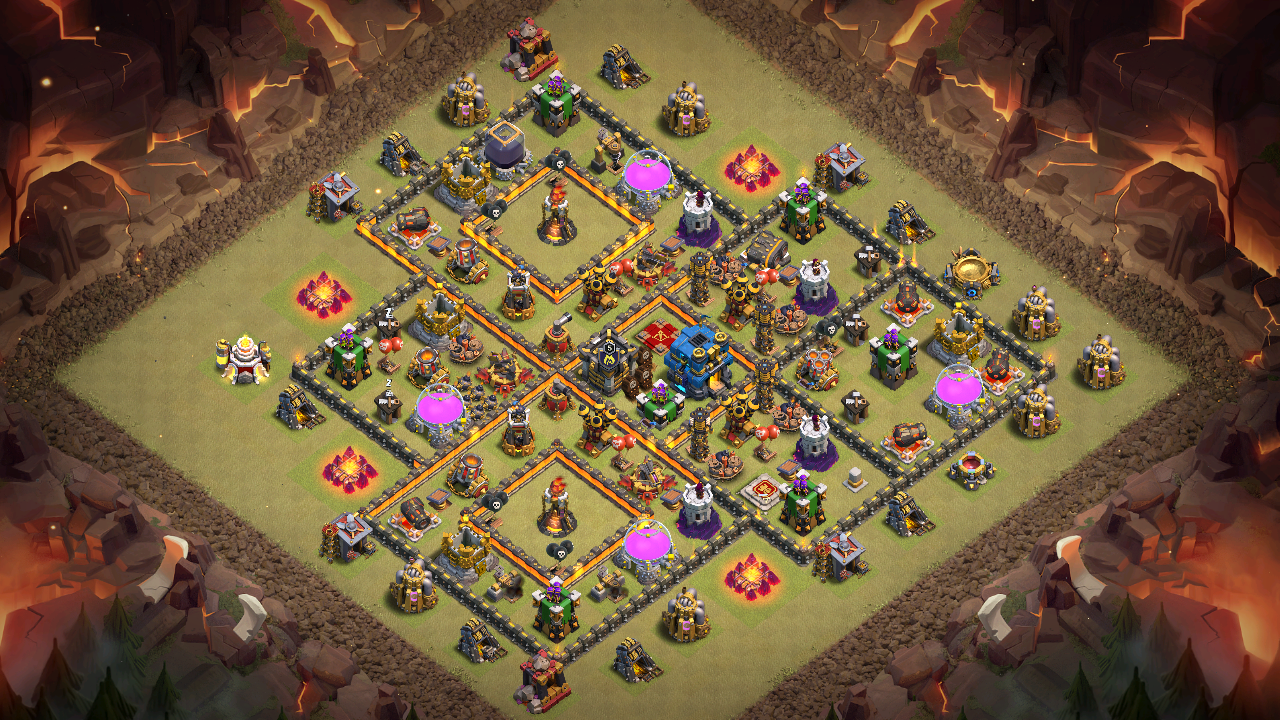 NEW TH10 War Base 2018 Anti Queen Walk