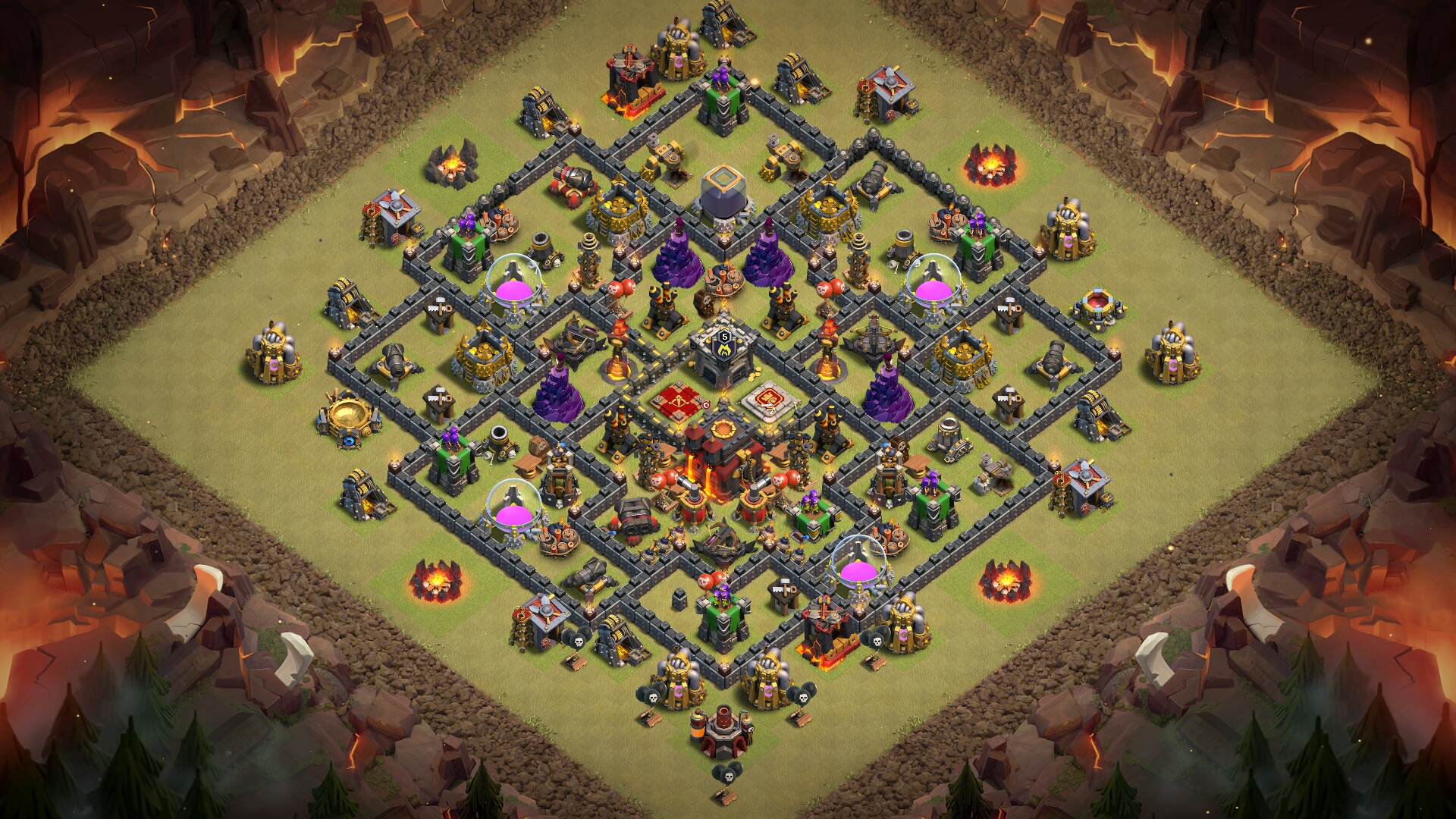 NEW TH10 War Base 2018 with REPLAY