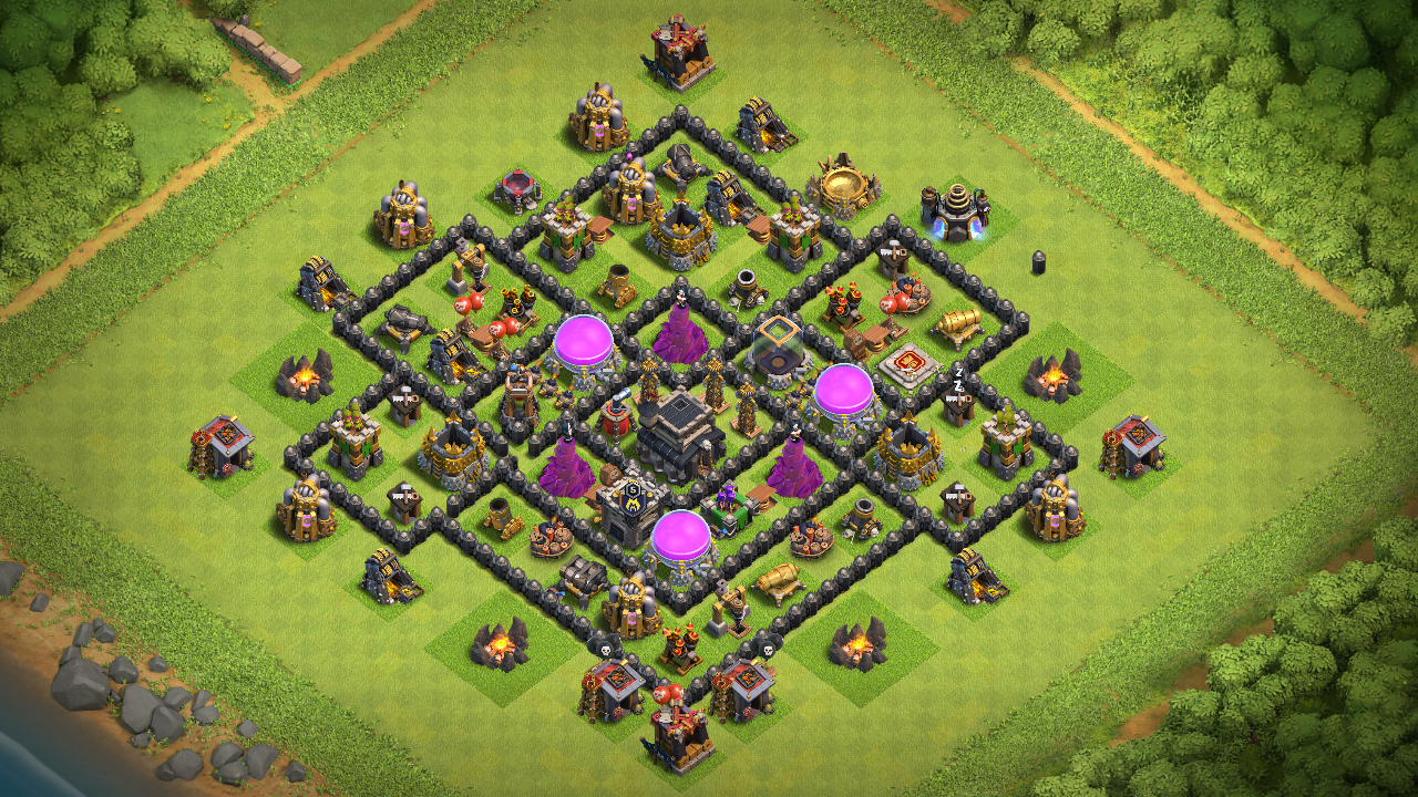 NEW TH8 FARMING BASE 2018