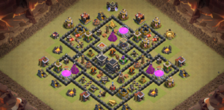 NEW Town Hall 8 (TH8) War Base 2018