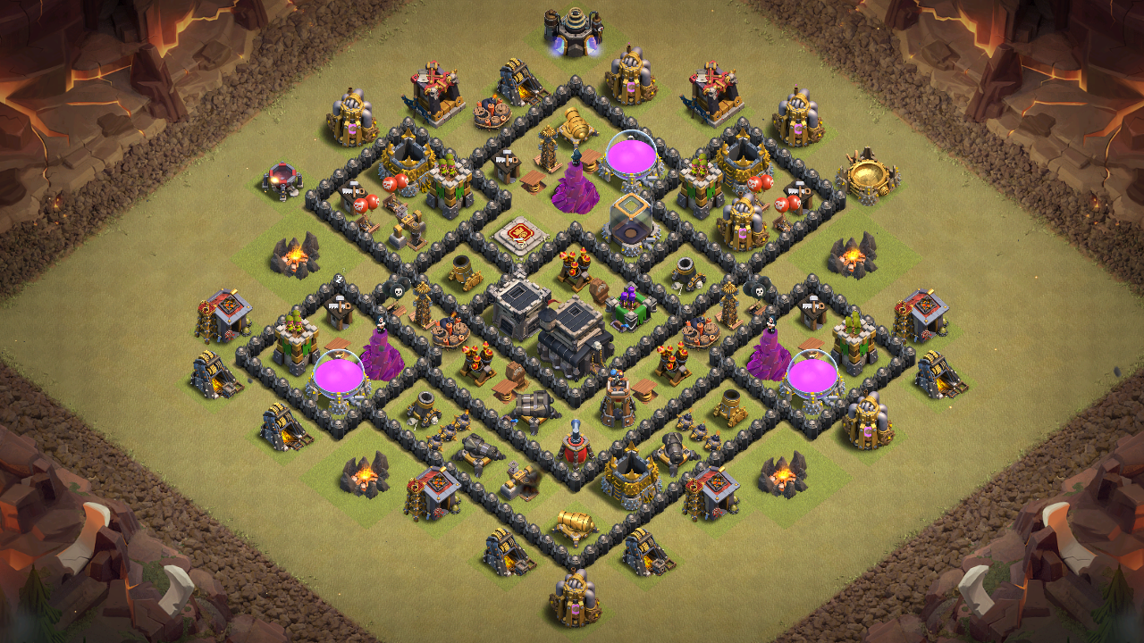 New Town Hall 8 War Base 2018 Layout