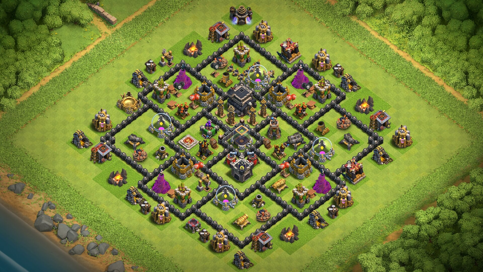 NEW Town Hall 9 (TH9) Base 2018 without X-bows and Archer Queen!