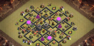 New Anti Dragon and Valk TH8 War Base 2018
