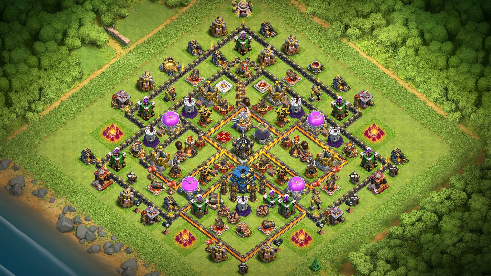 New Town Hall 11 Farming Base 2018