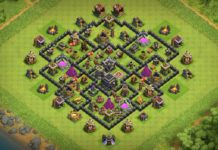 New Town Hall 8 (TH8) TROPHY Base 2018