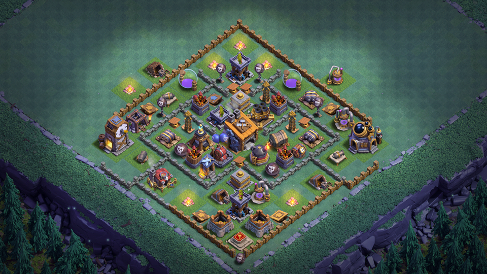 BEST BUILDER HALL 8 BASE LAYOUT WITH REPLAY 2018 August