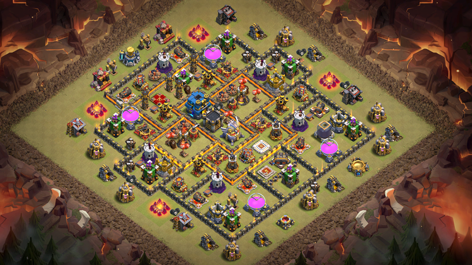 Best Th11 War Base 2018 August Anti 2 Star With 3