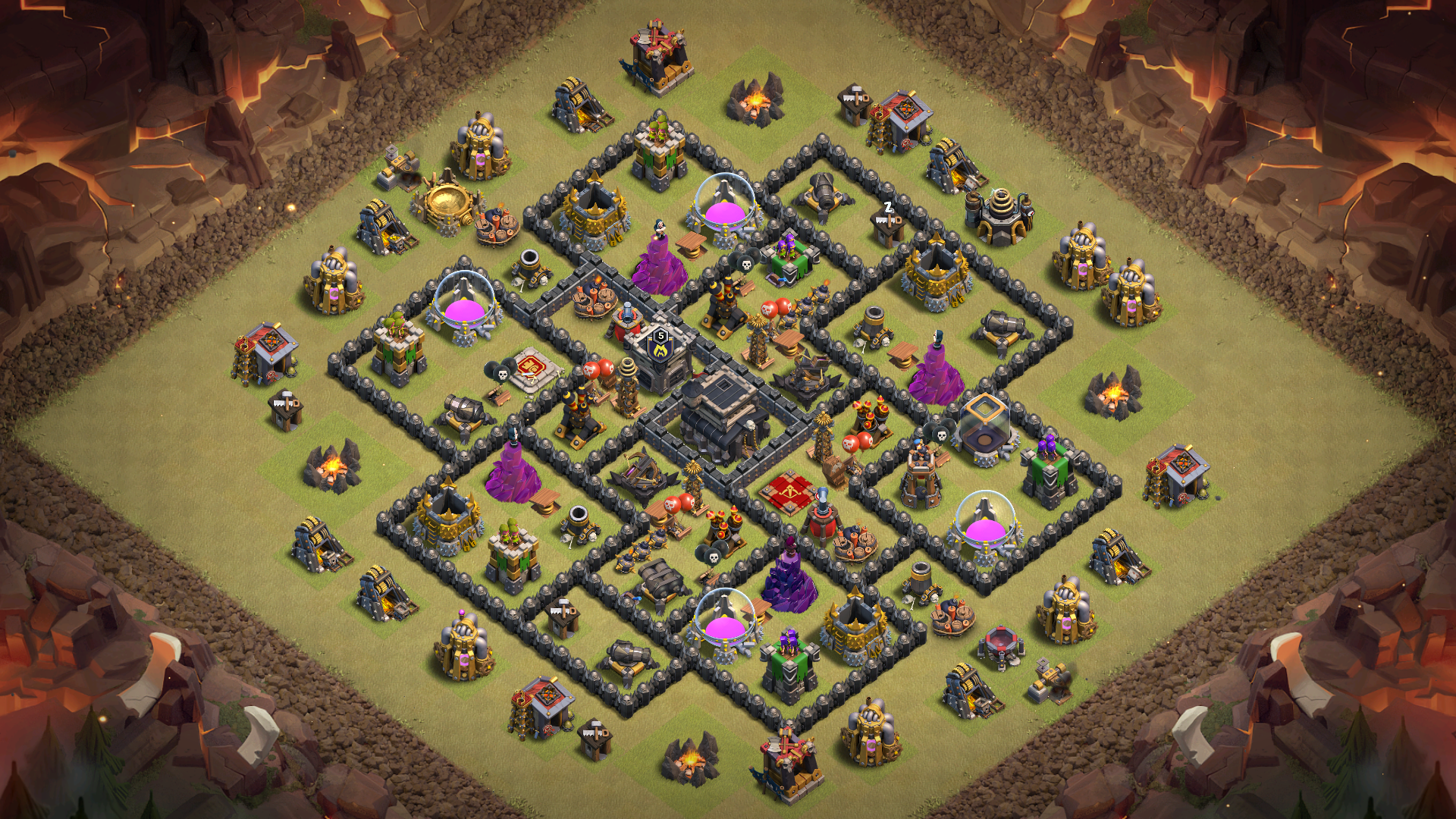 Th9 Best Defense War Base 8
