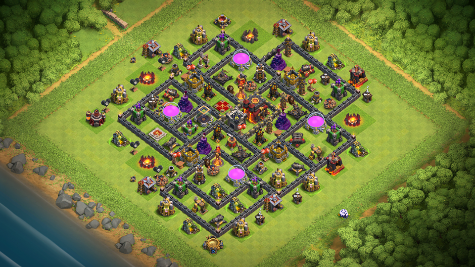 NEW BEST TH10 Base 2018 August