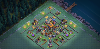 NEW Builder Hall 7 Base 2018 Design Anti 1 Star, Anti 2 Star