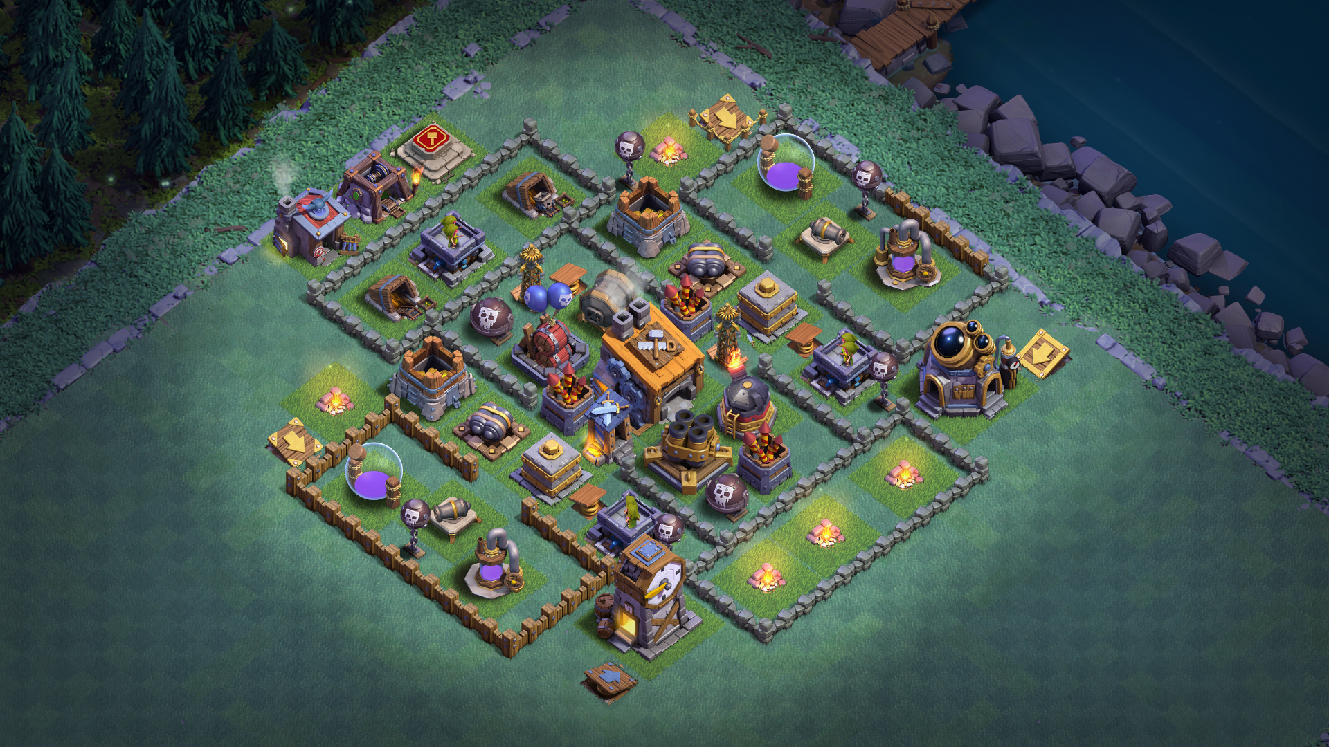 New Coc Builder Hall 7 Bh7 Base 2018 August