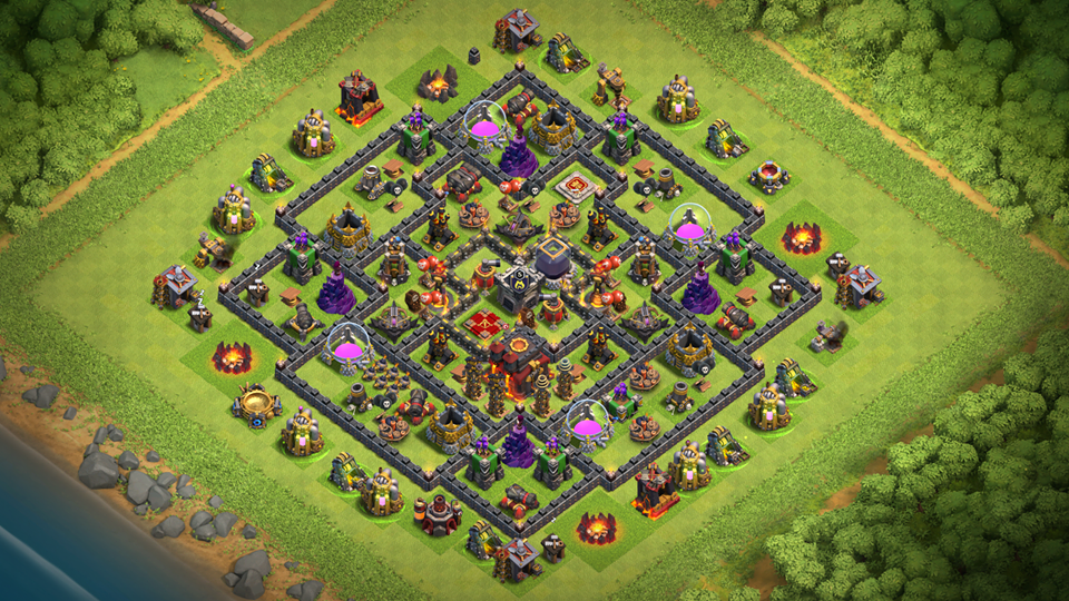 NEW Clash of Clans TH10 Hybrid Base 2018 August