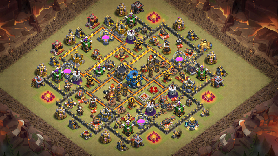 NEW TH10 War Base 2018 August Anti Queen Walk
