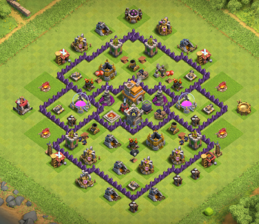 New Best WAR-TROPHY TH7 Base 2018 with REPLAY