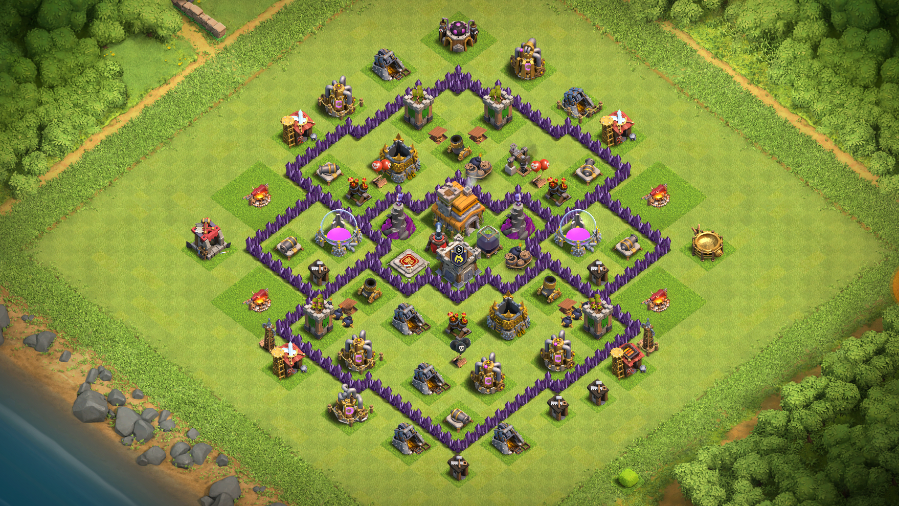 Top 10 base th7 class of clans bases