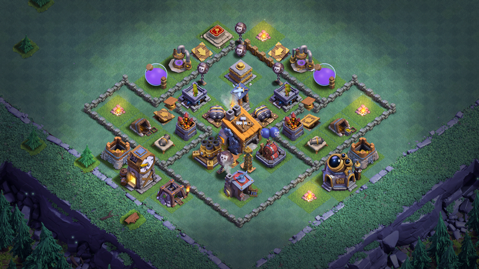 New Builder Hall 5 (BH5) Base 2018 August
