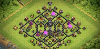 New Town Hall 8 TH8 TROPHY Base 2018 August