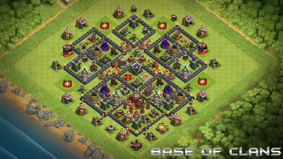 NEW Clash of Clans TH10 Base with REPLAYS 2018 August