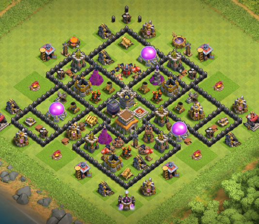 NEW Clash of Clans TH8 Base with Replay 2018 August