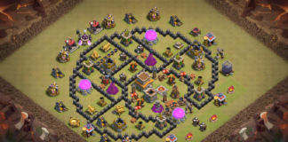 NEW Clash of Clans Town Hall 8 TH8 War Base 2018 September