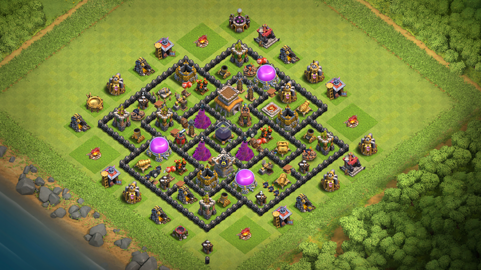 NEW Town Hall 8 Dark Elixir Farming Base