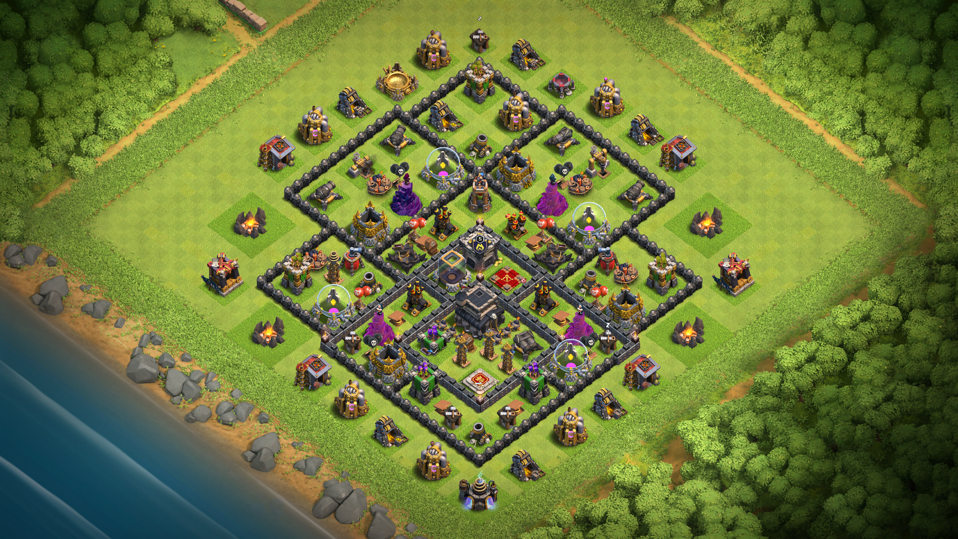 Best Coc Th 9 Farming Base 11