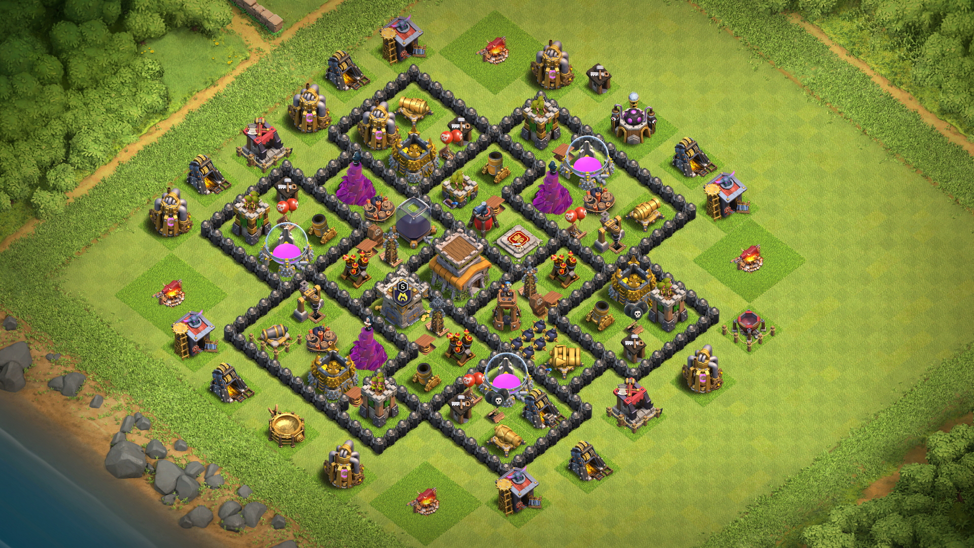 Coc Th8 Best Base Layout 2