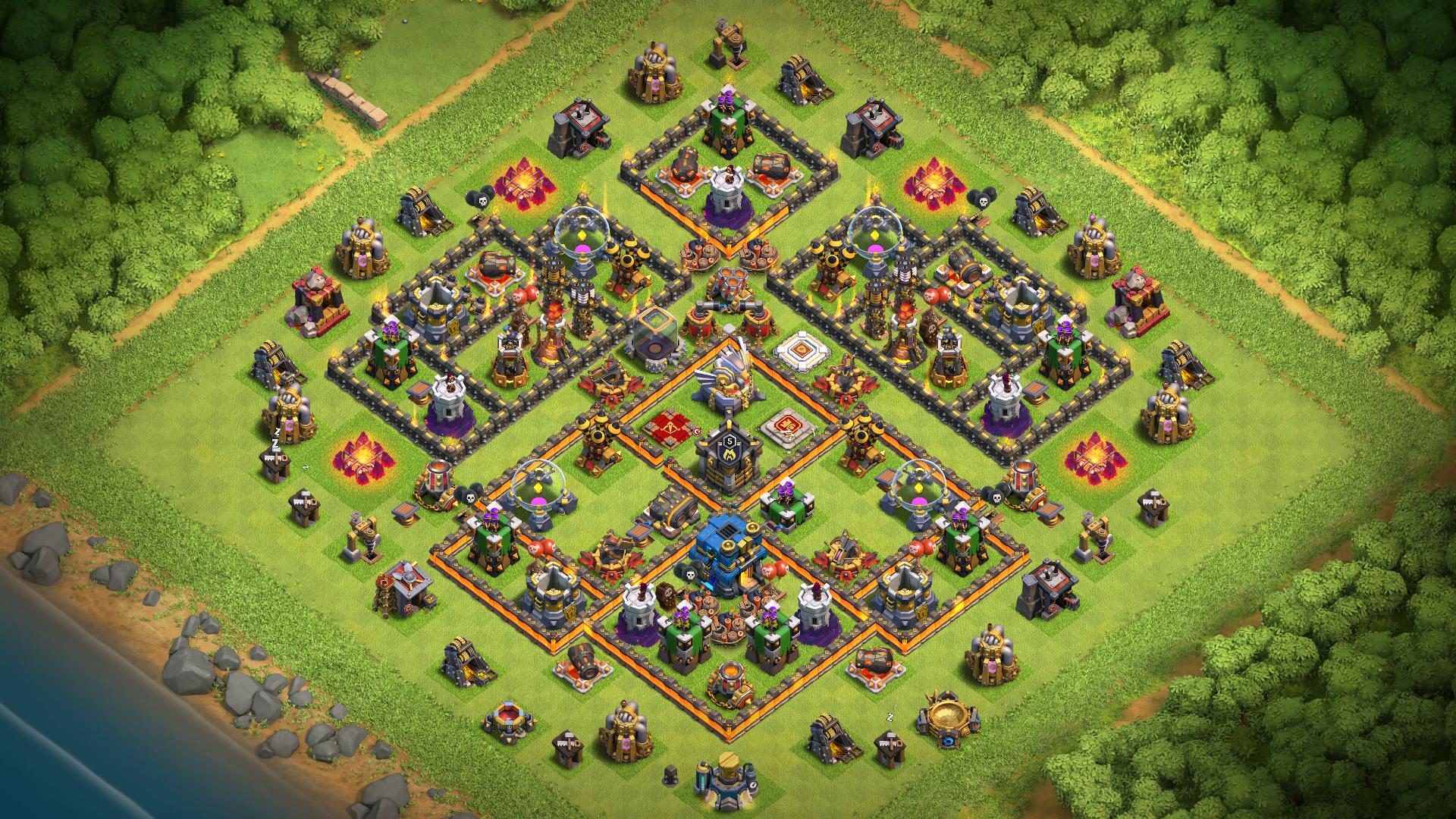 Town Hall 11 Farming-Trophy Defense Base 2018 September