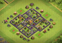 Town Hall 7 Defense Base 2018 September