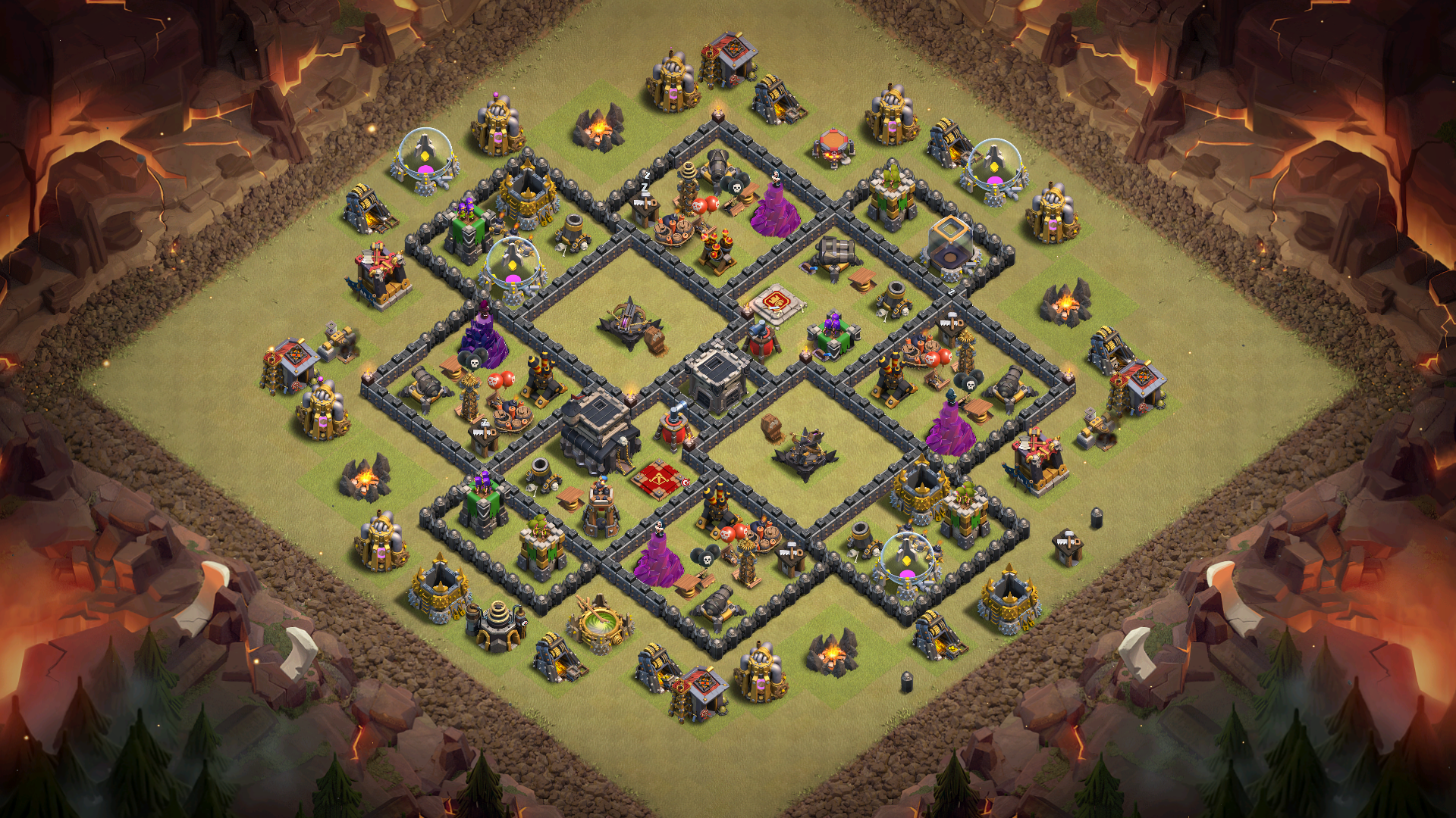 Town Hall 9 X-bows Island War Base