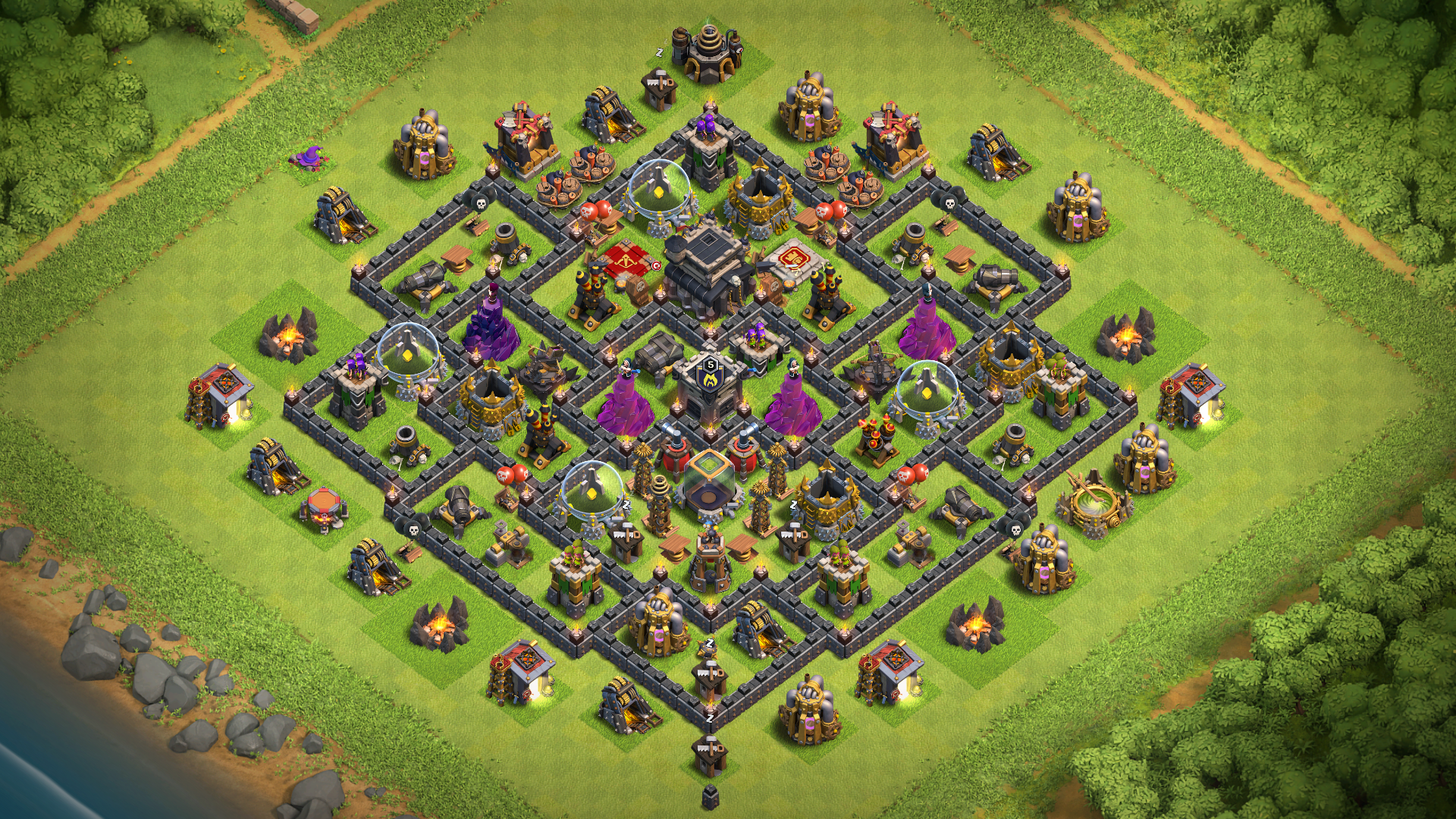 New TH9 Base Design,Defense 2018