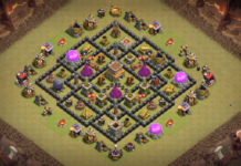 NEW Clash of Clans Town Hall 8 War Base 2018 October